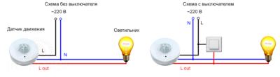 Подключение ИК датчика движения