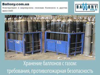 Требования к складам газовых баллонов