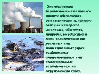 Экологическая и производственная безопасность человека
