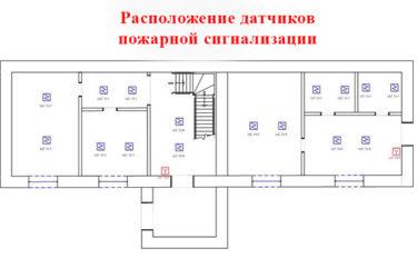Размещение датчиков пожарной сигнализации
