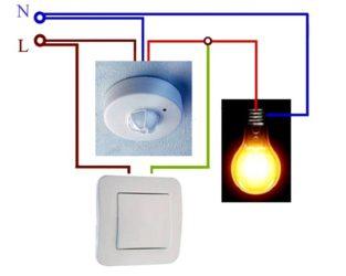 Установка датчиков движения для освещения