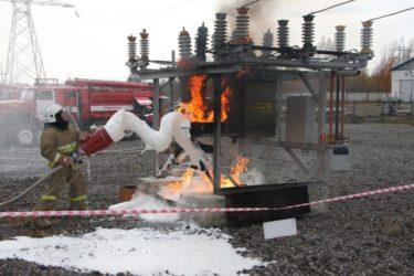 Особенности тушения пожаров в электроустановках